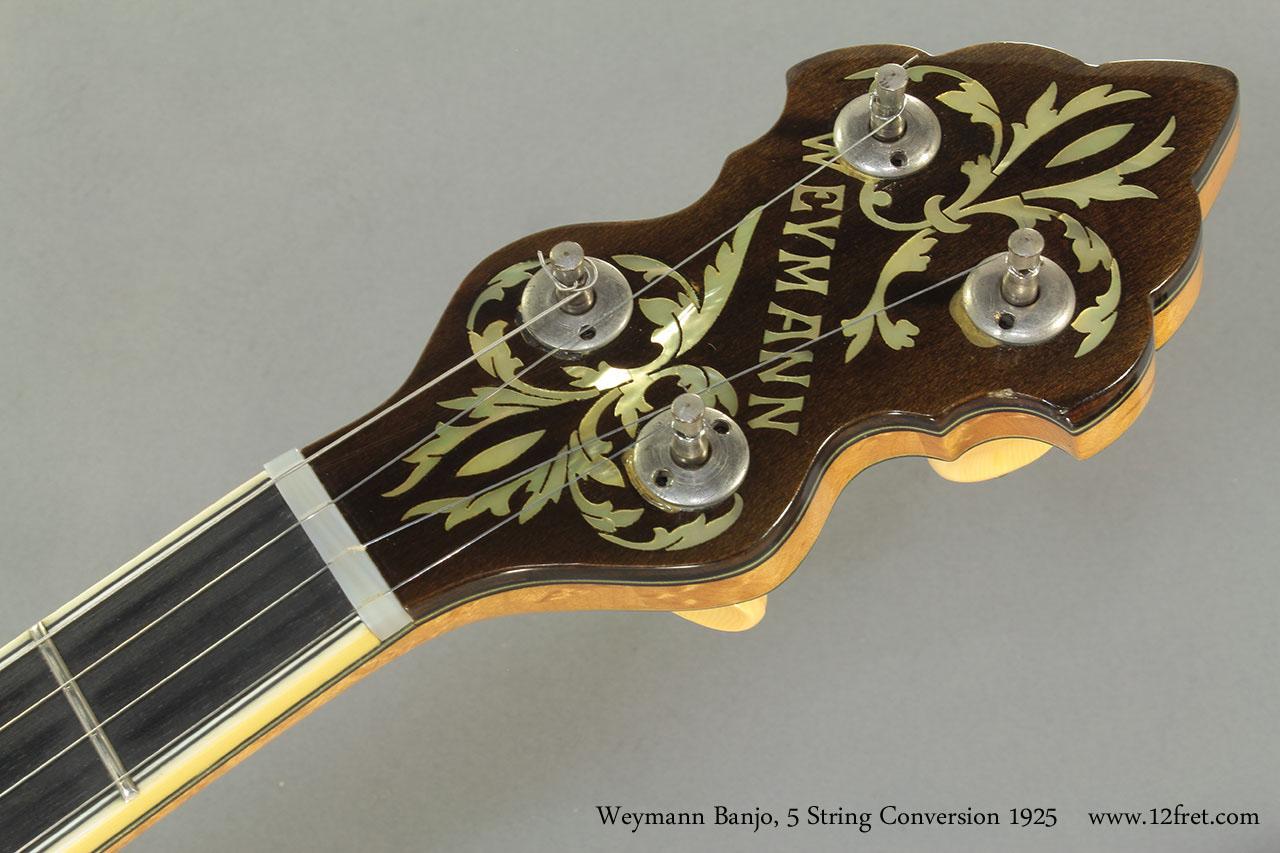 Weymann Banjo 5 String Conversion 1925 head front
