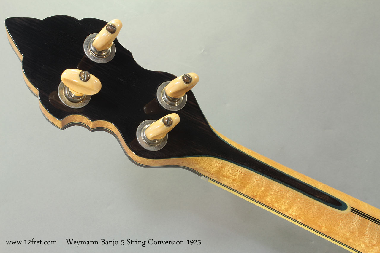 Weymann Banjo 5 String Conversion 1925 head rear