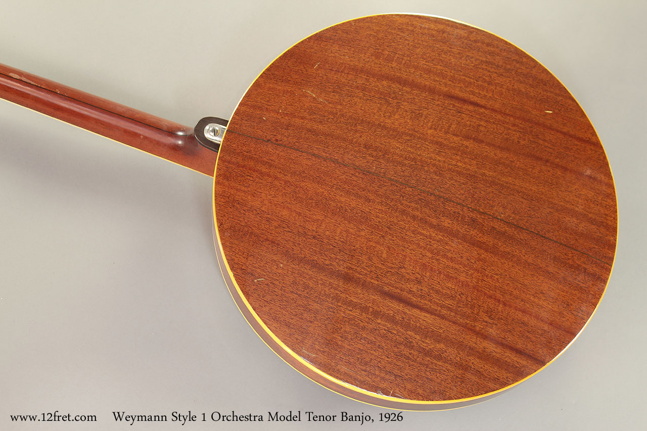 Weymann Style 1 Orchestra Model Tenor Banjo, 1926 back