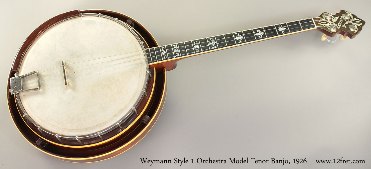 Weymann Style 1 Orchestra Model Tenor Banjo, 1926 full front view