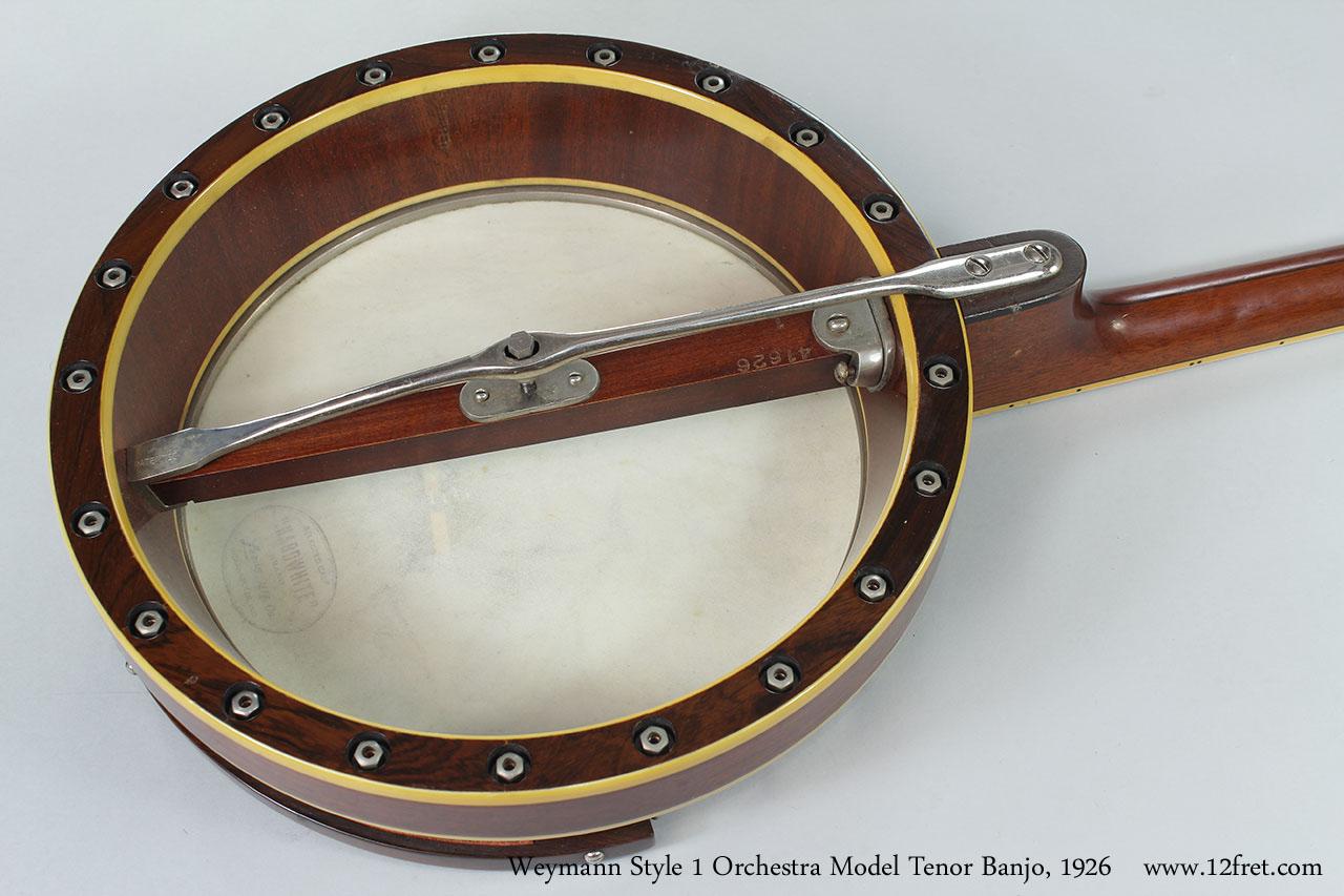 Weymann Style 1 Orchestra Model Tenor Banjo, 1926 Open Back View
