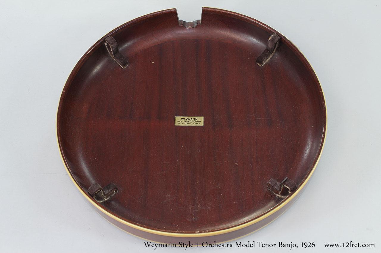 Weymann Style 1 Orchestra Model Tenor Banjo, 1926  Resonator Inside View