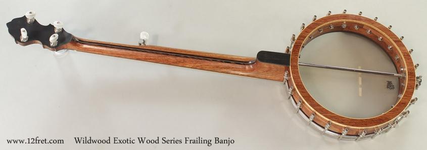 Wildwood Exotic Wood Series Frailing Banjo Full Rear View