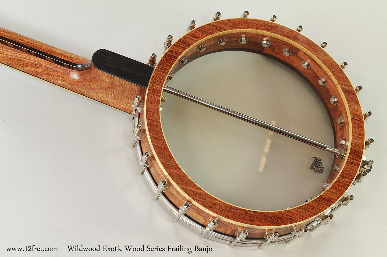Wildwood Exotic Wood Series Frailing Banjo Back