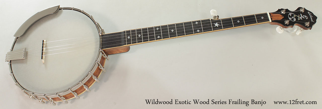 Wildwood Exotic Wood Series Frailing Banjo Full Front VIew