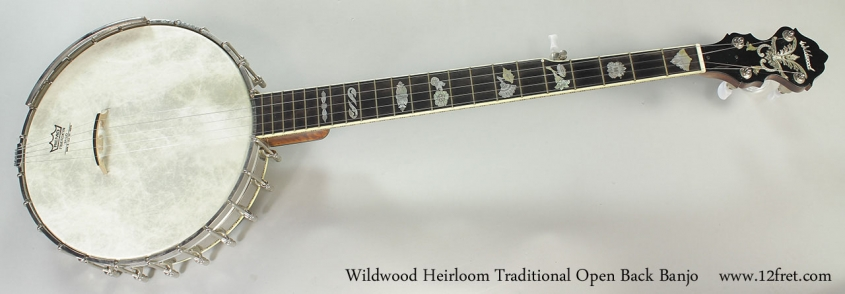 Wildwood Heirloom Traditional Open Back Banjo Full Front View