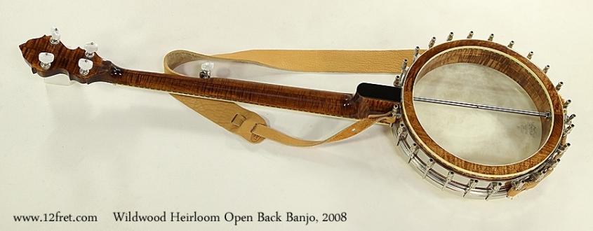 Wildwood Heirloom Open Back 5-String Banjo, 2008 Full Rear View