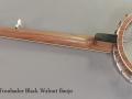 Wildwood Troubador Black Walnut Banjo Oil Finish full rear view
