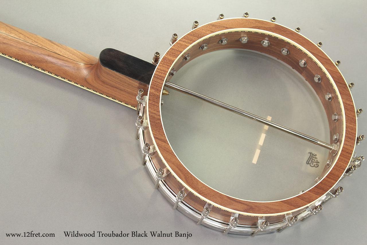 Wildwood Troubador Black Walnut Banjo Oil Finish back