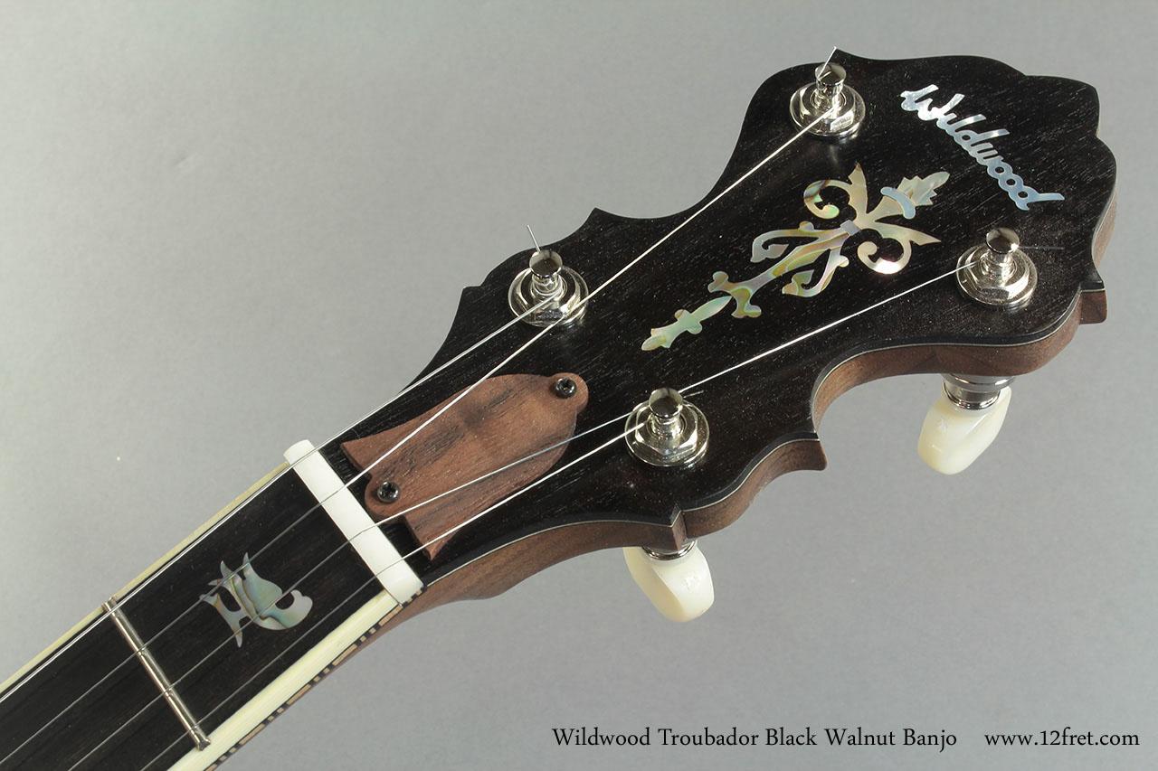 Wildwood Troubador Black Walnut Banjo Oil Finish head front