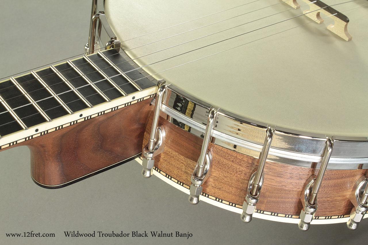 Wildwood Troubador Black Walnut Banjo Oil Finish heel