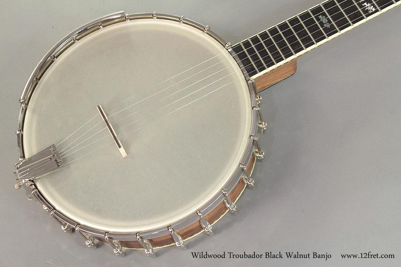 Wildwood Troubador Black Walnut Banjo Oil Finish top