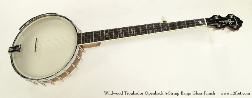 Wildwood Troubador Openback 5-String Banjo Gloss Finish  Full Front View