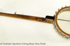 Wildwood Troubador Openback 5-String Banjo Gloss Finish  Full Rear View