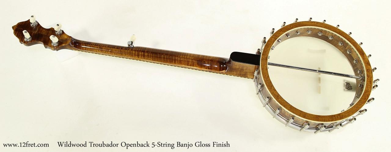 Wildwood Troubador Openback 5-String Banjo Gloss Finish  Full Rear View