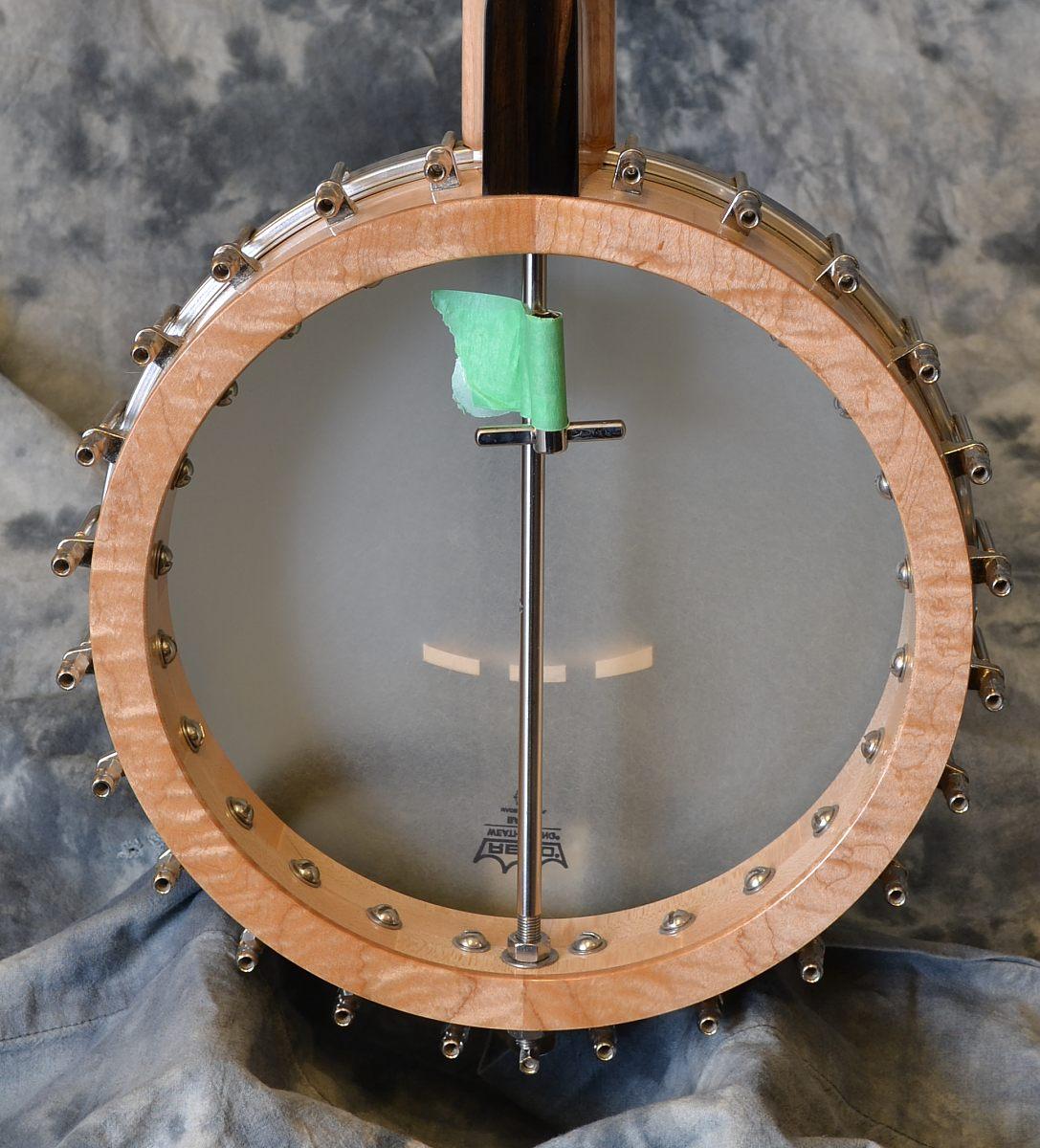Wildwood Minstrel Open Back Banjo Back View