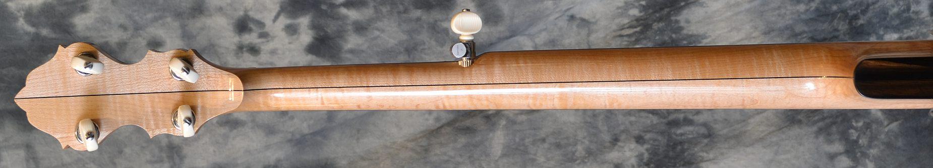 Wildwood Minstrel Open Back Banjo Rear Neck View