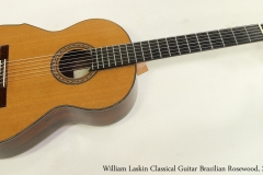 William Laskin Classical Guitar, 2001   Full Front View