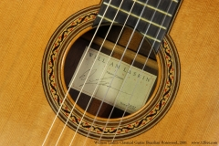 William Laskin Classical Guitar, 2001   Label View