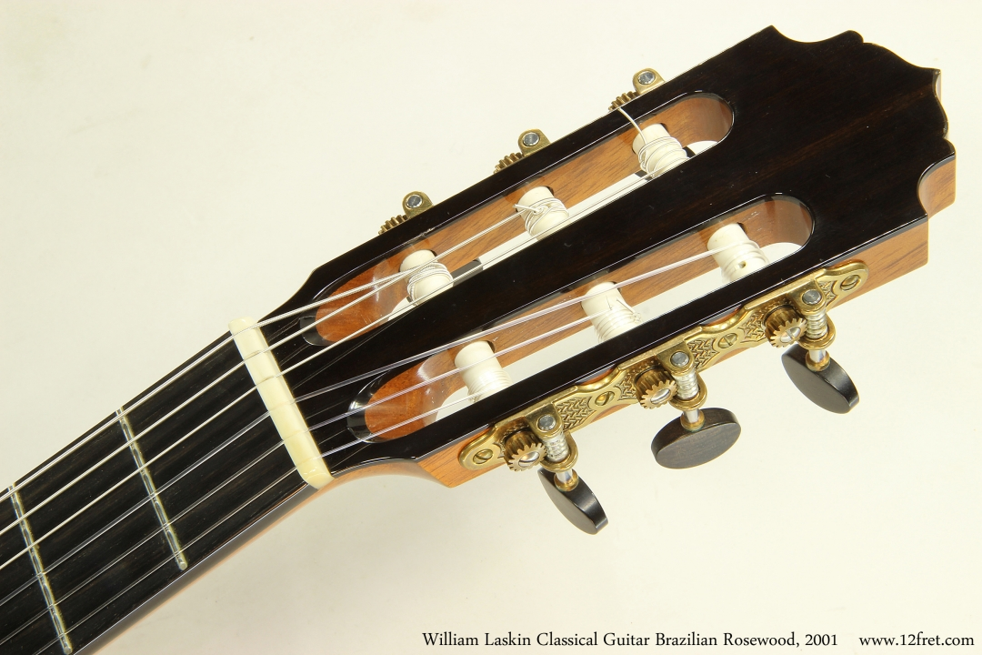William Laskin Classical Guitar, 2001  Head Front View