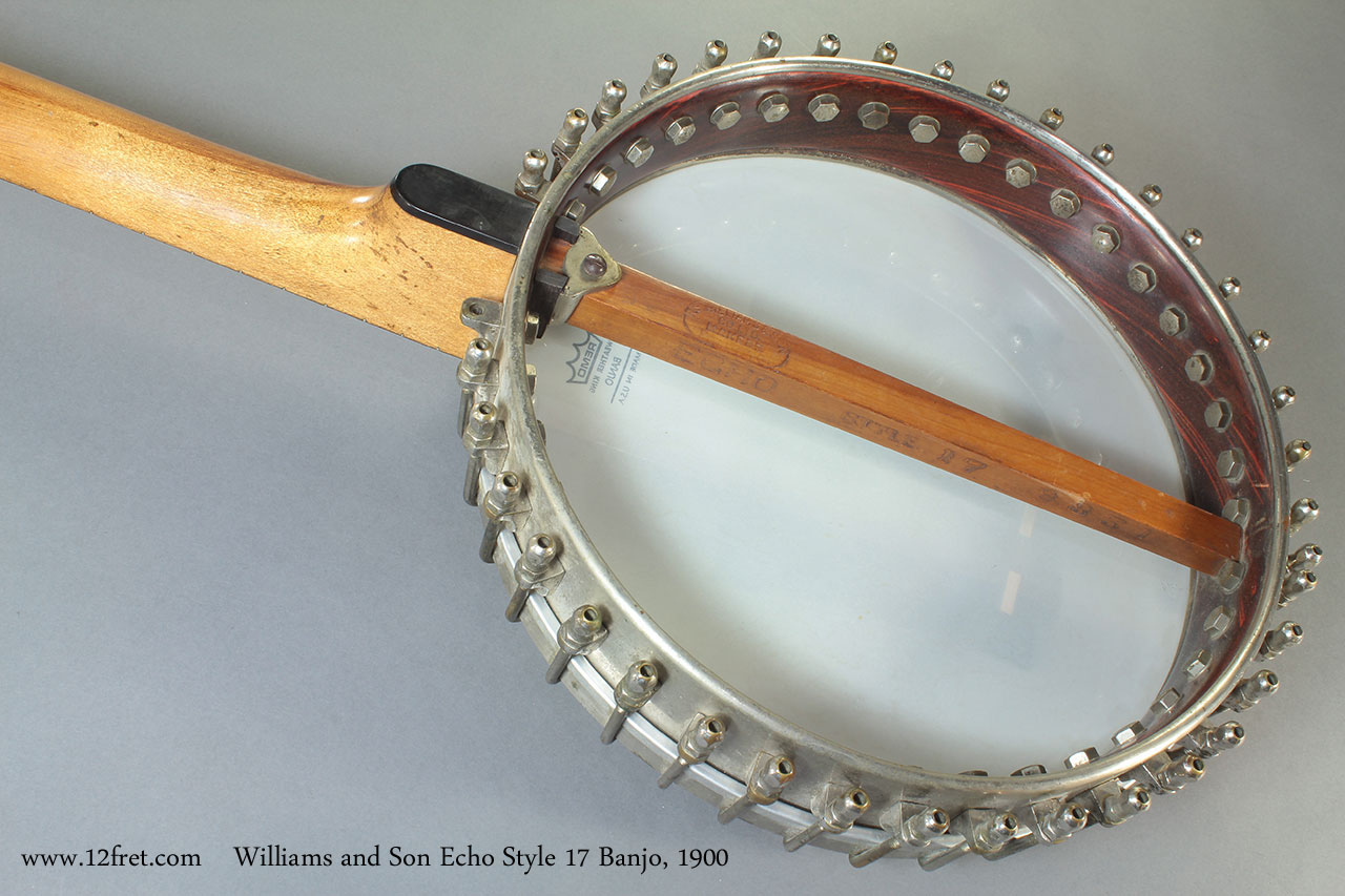 Williams and Son Echo Style 17 Banjo 1900 back