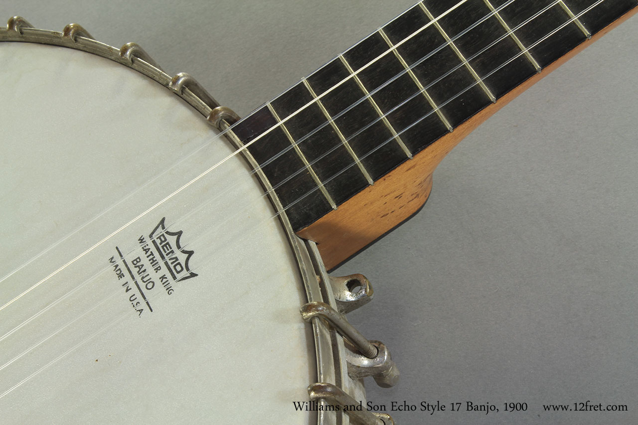 Williams and Son Echo Style 17 Banjo 1900 detail
