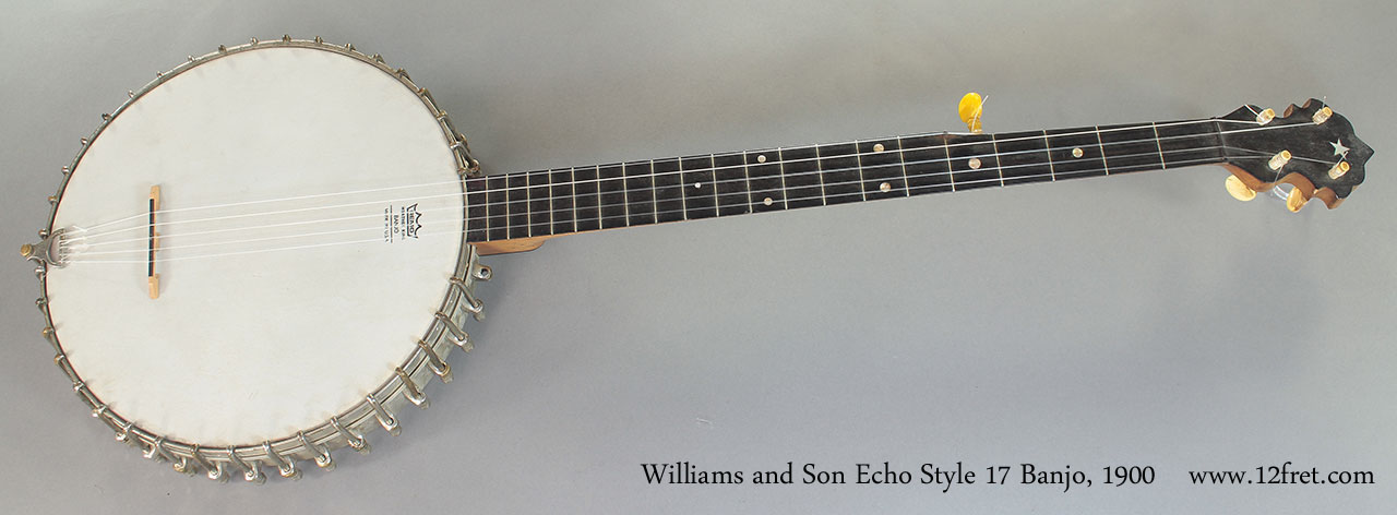 Williams and Son Echo Style 17 Banjo 1900 full front view