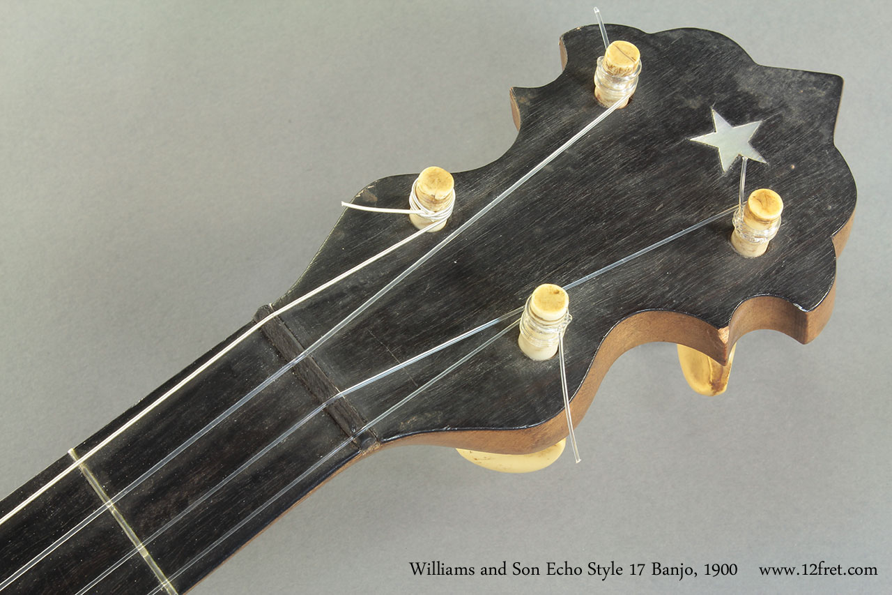 Williams and Son Echo Style 17 Banjo 1900 head front