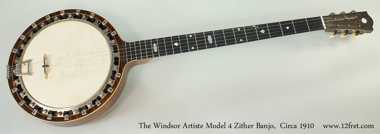 The Windsor Artiste Model 4 Zither Banjo, Circa 1910 Full Front View