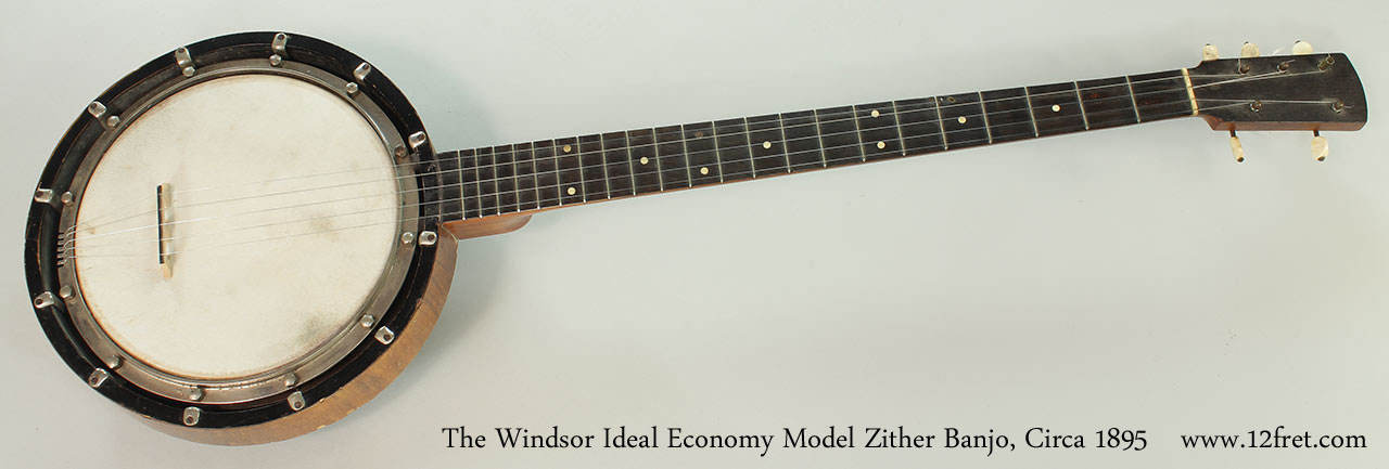 The Windsor Ideal Economy Model Zither Banjo, Circa 1895 Full Front View