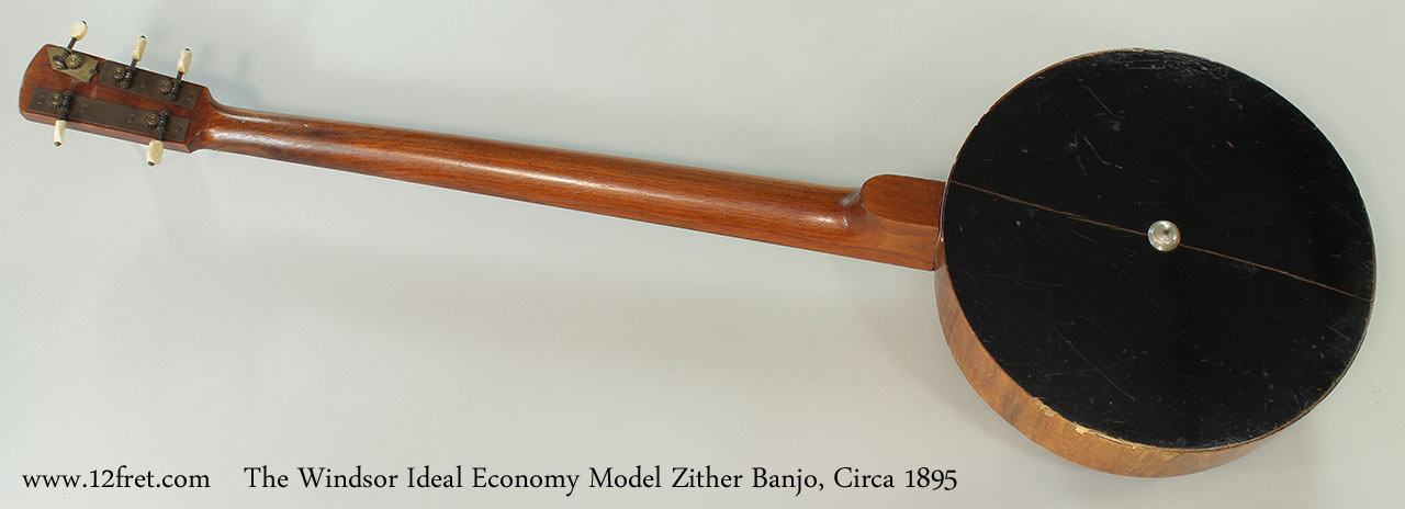 The Windsor Ideal Economy Model Zither Banjo, Circa 1895 Full Rear View