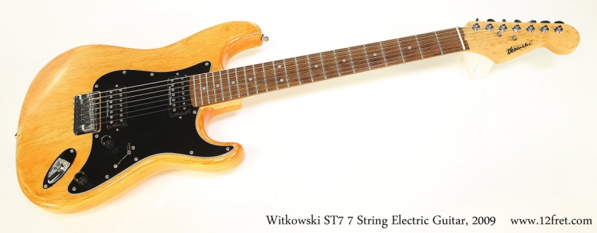 Witkowski ST7 7 String Electric Guitar, 2009   Full Front View