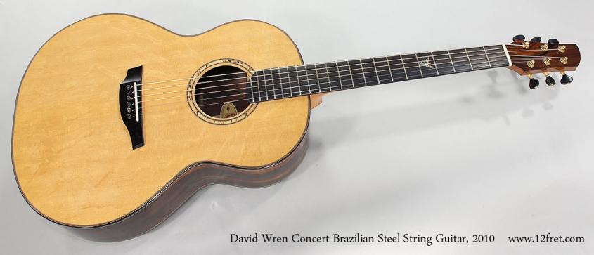 David Wren Concert Brazilian Steel String Guitar, 2010 Full Front View