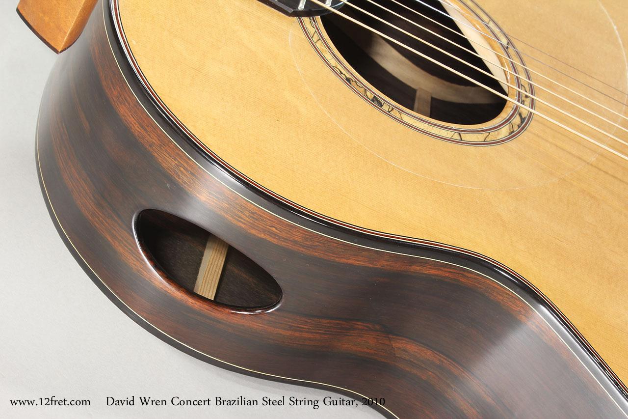 David Wren Concert Brazilian Steel String Guitar, 2010 Soundport View