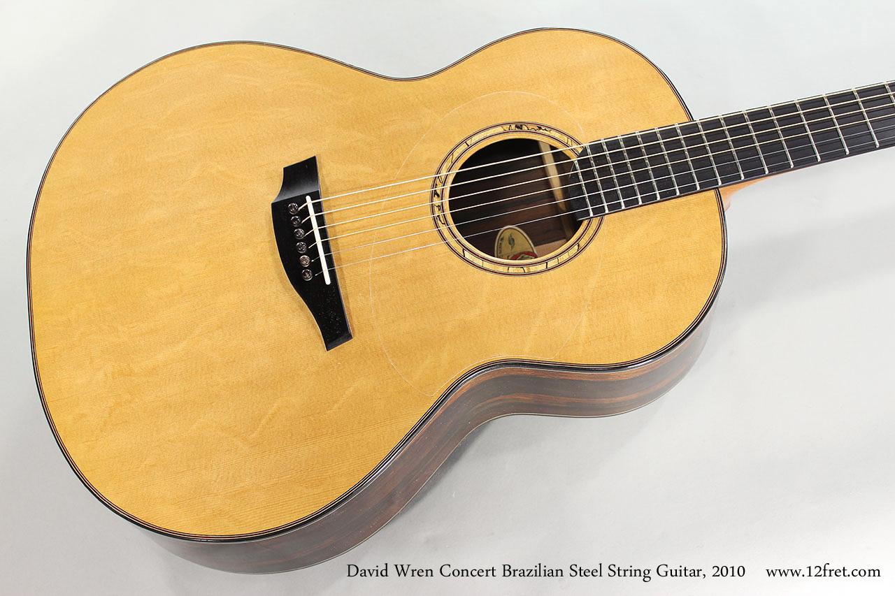 David Wren Concert Brazilian Steel String Guitar, 2010 Top View