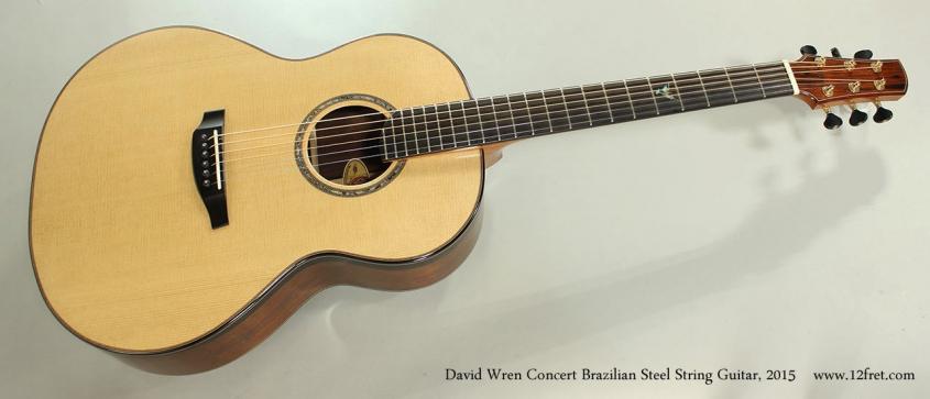 David Wren Concert Brazilian Steel String Guitar, 2015 Full Front View