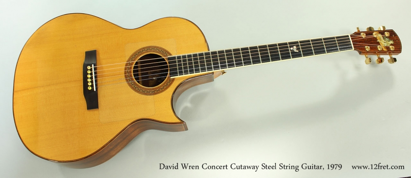 David Wren Concert Cutaway Steel String Guitar, 1979  Full Front View