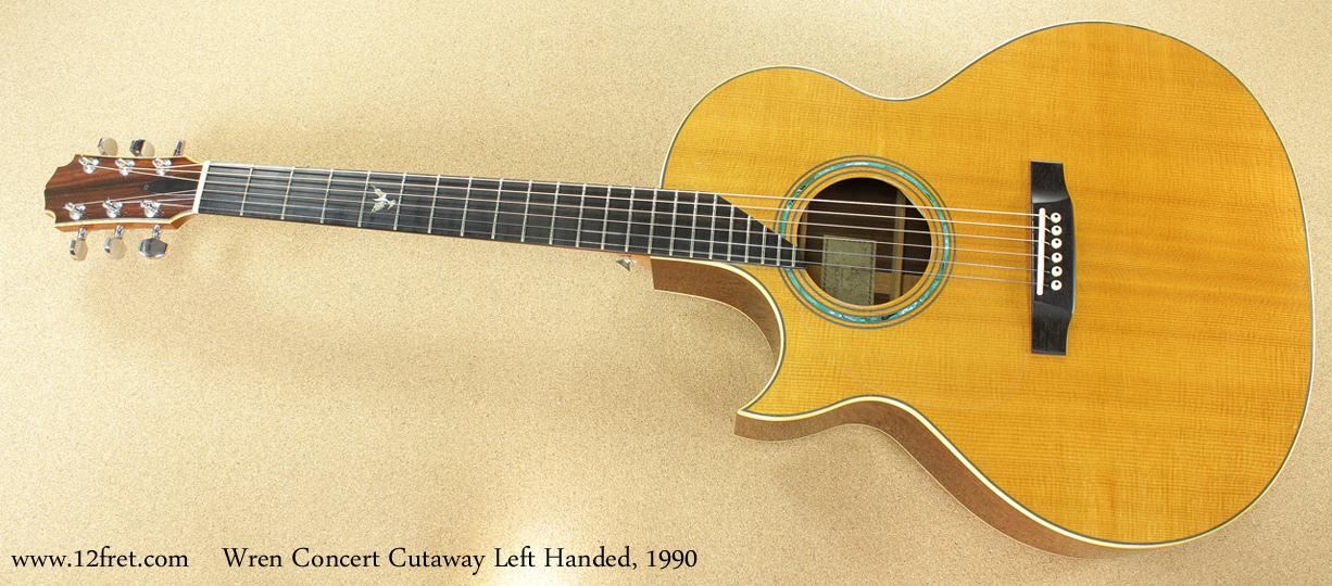 Wren Concert Cutaway Left-Handed 1990 full front view
