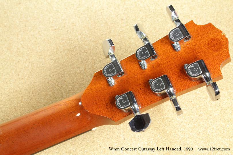 Wren Concert Cutaway Left-Handed 1990 head rear