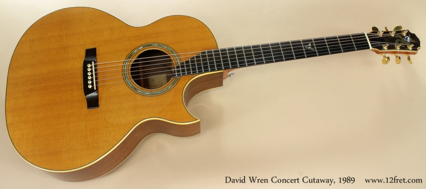 David Wren Concert Cutaway 1989 full front view