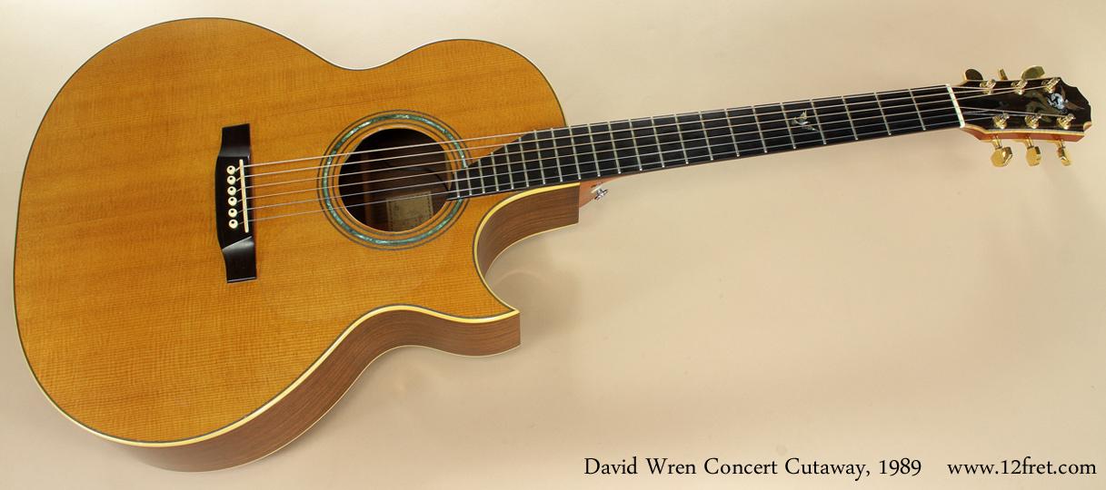 David Wren Concert Cutaway 1989 full front view