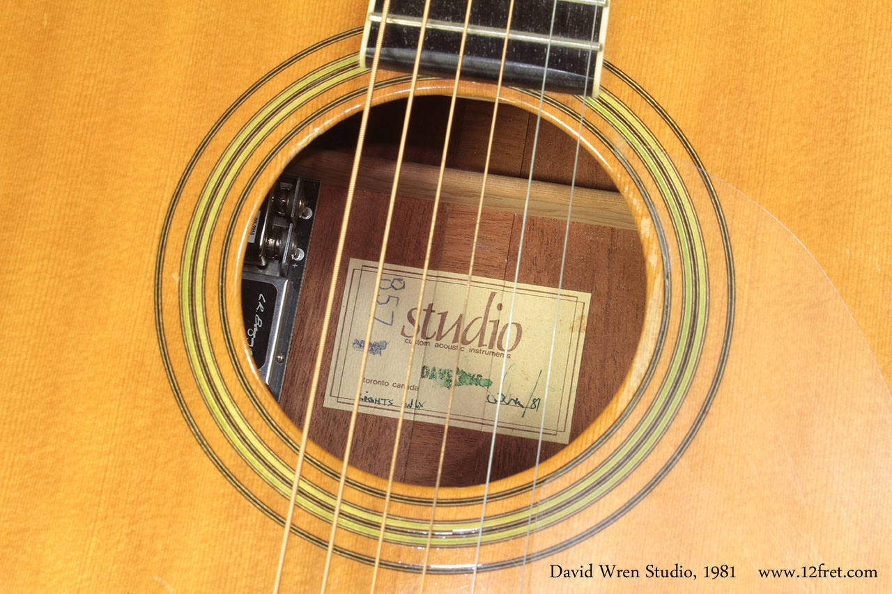 David Wren Studio 1981 label