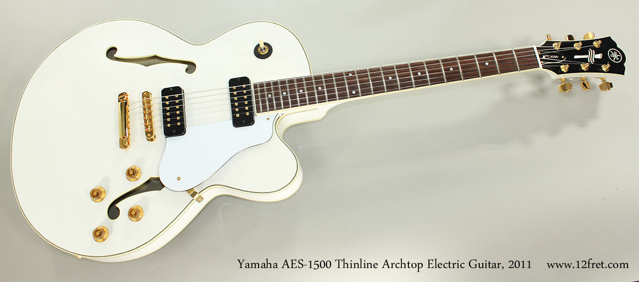 Yamaha AES-1500 Thinline Archtop Electric Guitar, 2011 Full Front View
