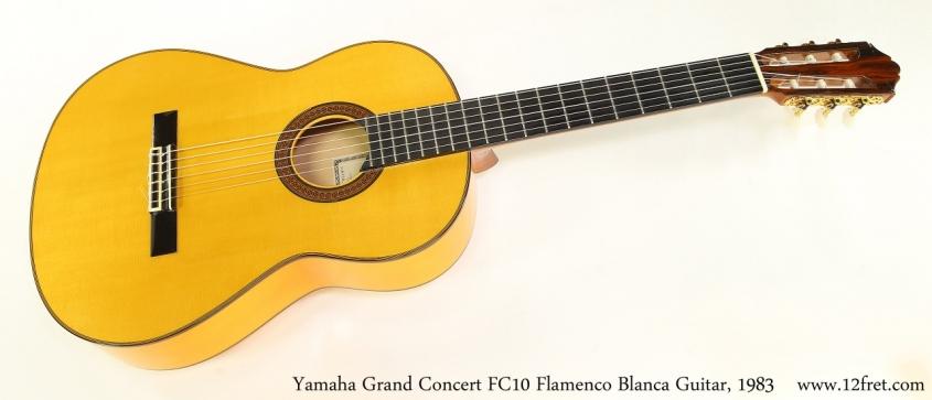 Yamaha Grand Concert FC10 Flamenco Blanca Guitar, 1983   Full Front View
