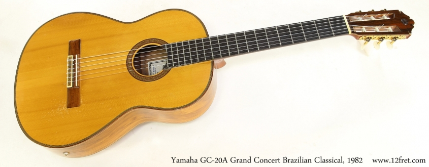 Yamaha GC-20A Grand Concert Brazilian Classical, 1982   Full Front View