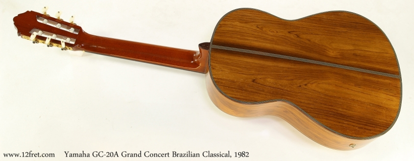 Yamaha GC-20A Grand Concert Brazilian Classical, 1982   Full Rear View