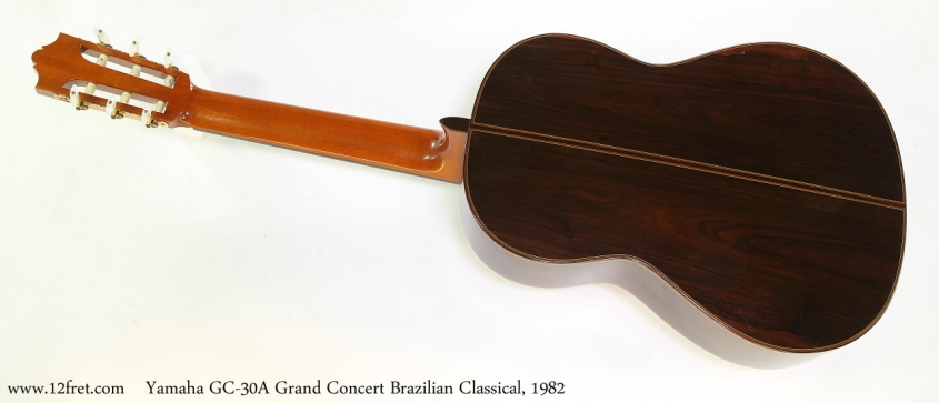Yamaha GC-30A Grand Concert Brazilian Classical, 1982   Full Rear VIew
