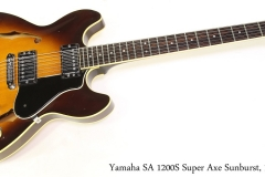 Yamaha SA 1200S Super Axe Sunburst, 1980 Full Front View