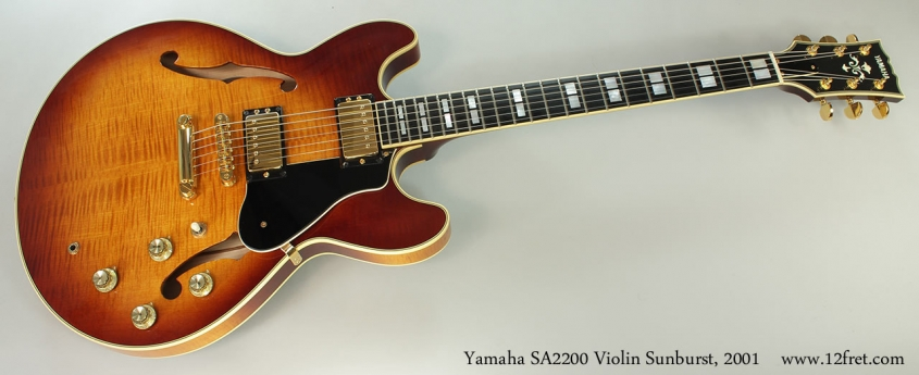 Yamaha SA2200 Violin Sunburst, 2001 Full Front View