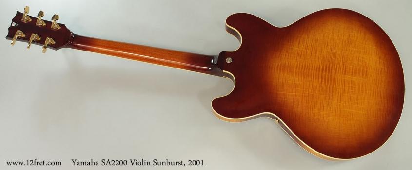 Yamaha SA2200 Violin Sunburst, 2001 Full Rear View